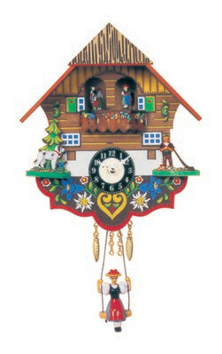 Alexandor Taron Mini Size Battery-operated Clock with Music/Chimes