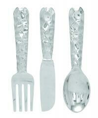 Cutlery Wall Decor - Aluminum Utensil Set of 3