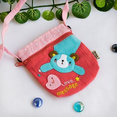 Love Message Applique Mini Swingpack Bag Purse Wallet Camera Bag