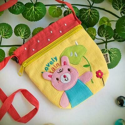 Lovely Rain Embroidered Mini Swingpack Bag Purse Wallet Camera Bag