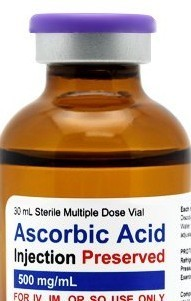 Vitamin C (Ascorbic Acid 500 mg/mL) only Self-Injection Kit - 30 doses