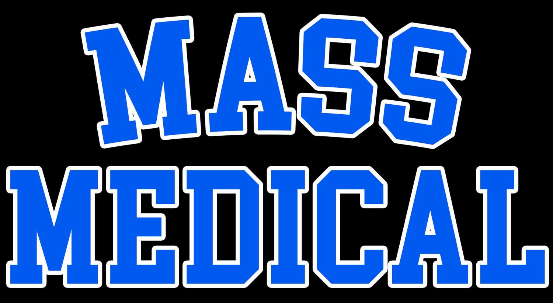 Mass Medical Strains Black T-shirt New Mass Medical College Style Logo