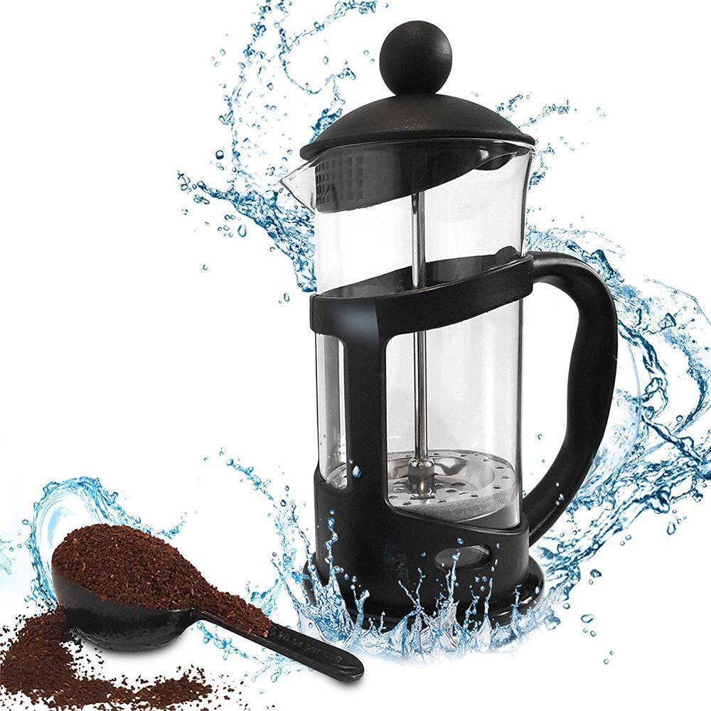 Brazil French Press Coffee Maker, 12 Ounce, 0.35L(3 Cup), Black