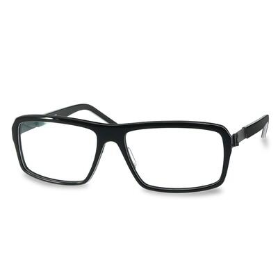 Acetate FFA 985 Black-White Stripes    (58-16-140 mm)