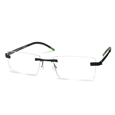 Green Rimless FFA 956 Black/Gun   (55-18-145 mm)  size L
