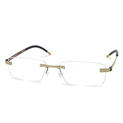 Green Rimless FFA 958 Gold/Brown  (55-18-145 mm)  size L