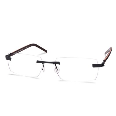 Green Rimless FFA 968 Dark Gun  (55-17-145 mm)  size M