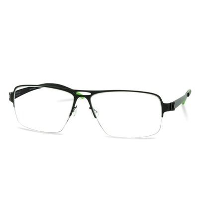 Green Semi Rim FFA 912 Black  (58-17-140 mm)