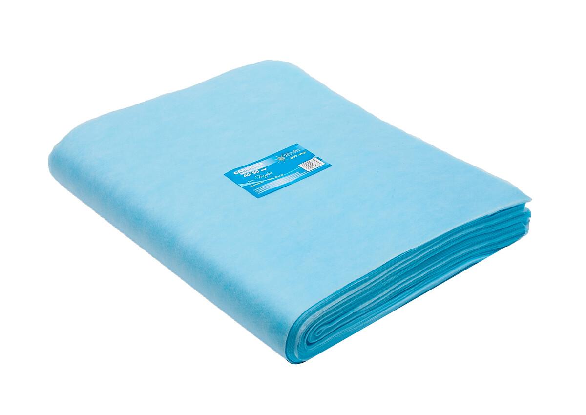 Салфетка одноразовая 40х60 SMS 20 голубой White line 200шт пачка
