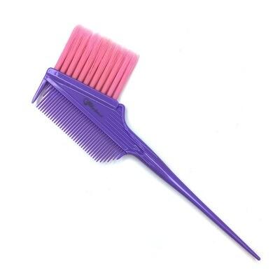 Кисть-гребень с удлиненной щетиной, фиолетовая