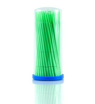 Микрощеточки безворсовые, 1мм, зеленые (S), 100шт