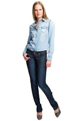 Beige pocket detail straight fit jeans