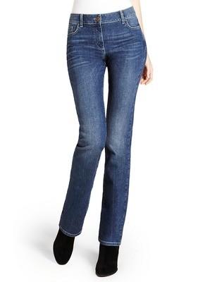 Blue Straight Leg Denim Jeans M&S Short Length