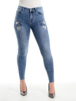 Embellished Embroidered Skinny Jean
