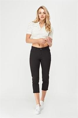 In Extenso Crop Denim Jeans black