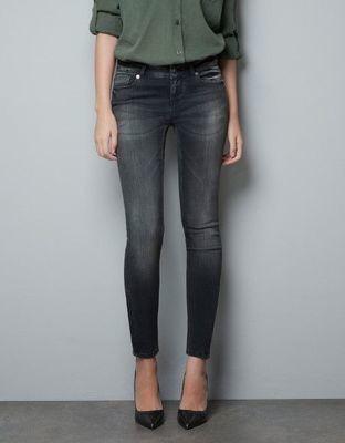 Ladies zara woman jeans black