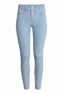 Ladies zara woman jeans light wash blue