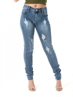 Ripped B&S Washed Denim Jean
