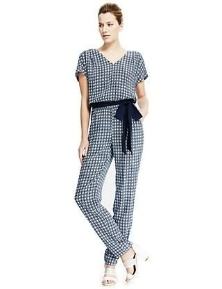 M&S Mini Tile Print Jumpsuit