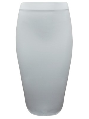 ASOS CREAM Soft Scuba Jersey Pencil Skirt