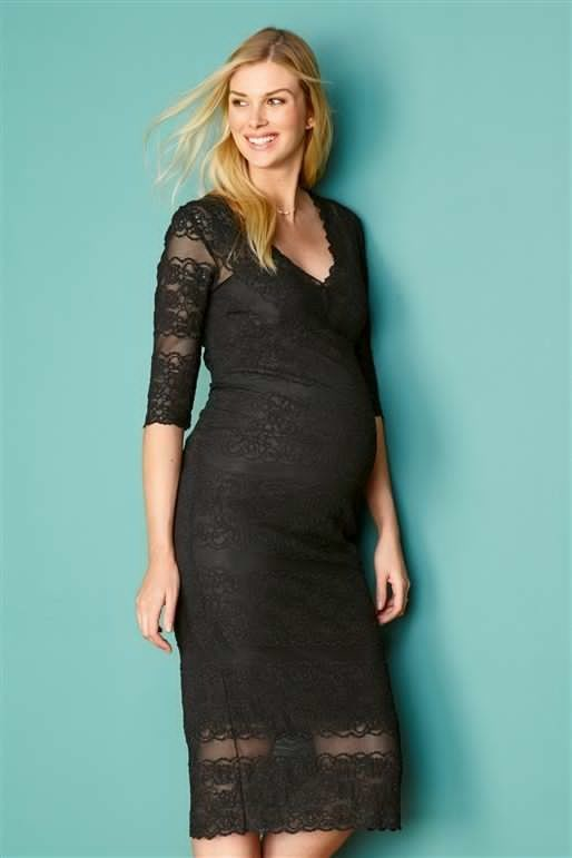 Black Lace Maternity Next Dress