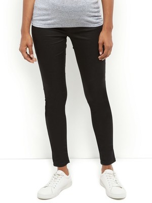 Black Under Bump Maternity Jeggings