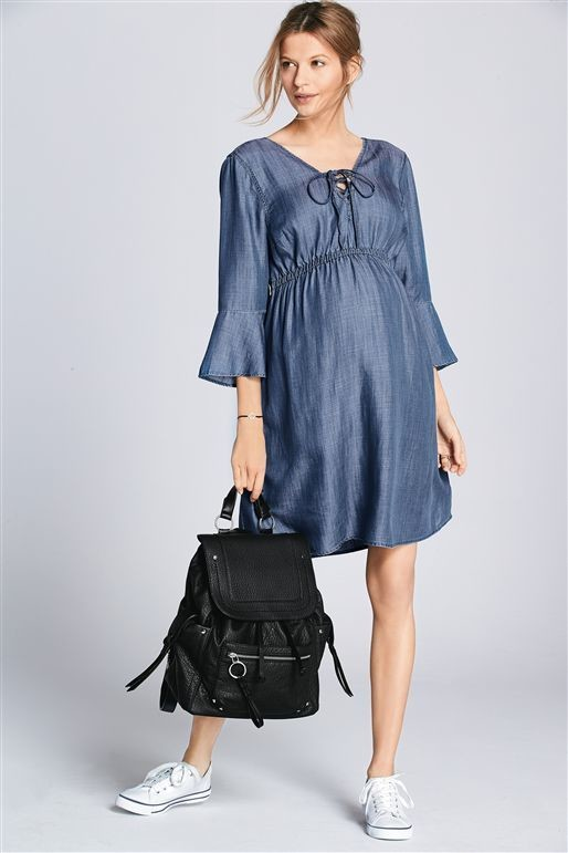 Blue Denim Dress (Maternity)
