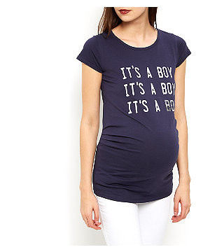 Maternity Navy It's A Boy T-Shirt