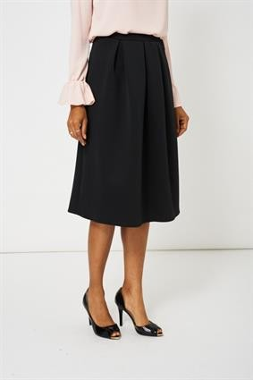 Black Full Midi Scuba Skirt