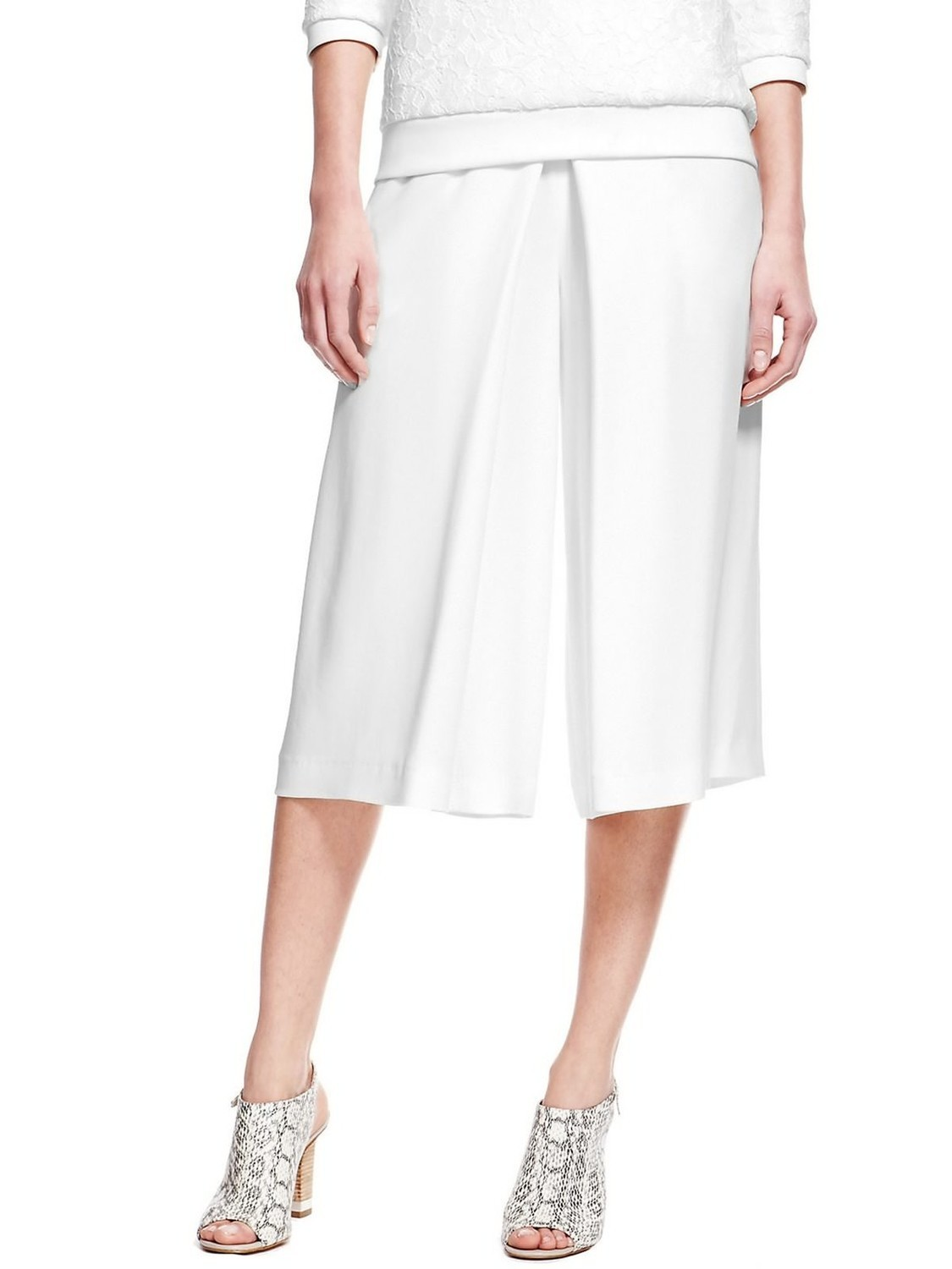 Luxury Front Pleated Culottes by M&S Autograph