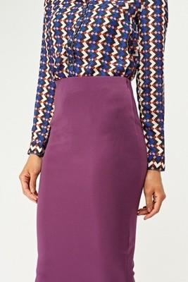 High Waist Midi Pencil Skirt