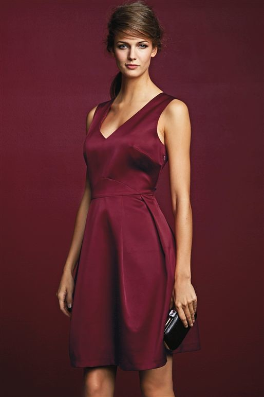 Berry Satin Dress Next