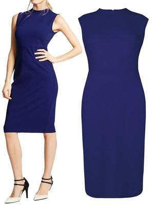Bodycon Sleeveless Ponte Dress RICH-BLUE