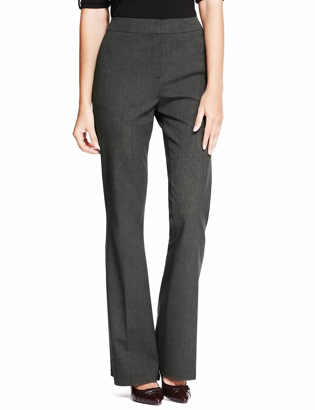 Charcoal 2-Way Stretch Bootleg Trousers