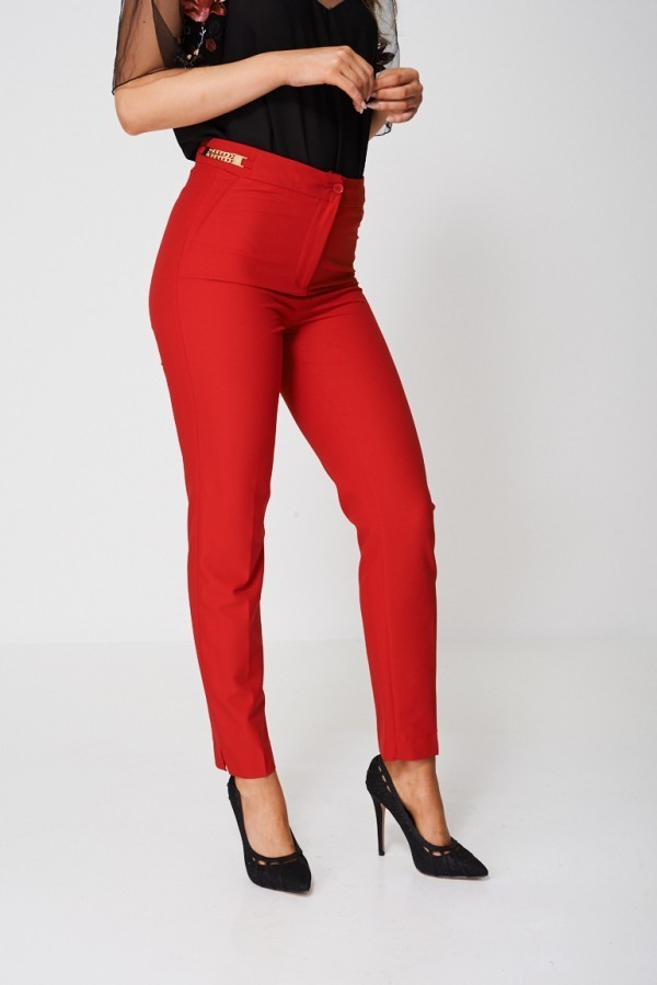 Cigarette Trousers In Red