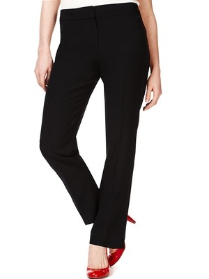 Flat Front Slim Leg Trousers by M&S