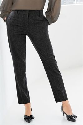 Grey Pinstripe Next Taper Trousers