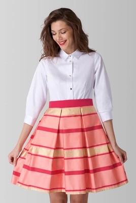 Multi Contrast 2 In 1 Stripe Shirt Dress
