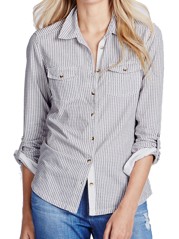 AUBERGINE Pure Cotton Striped Shirt