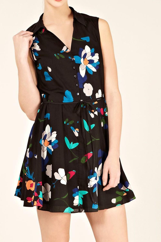 Digital Floral Print Cotton Dress