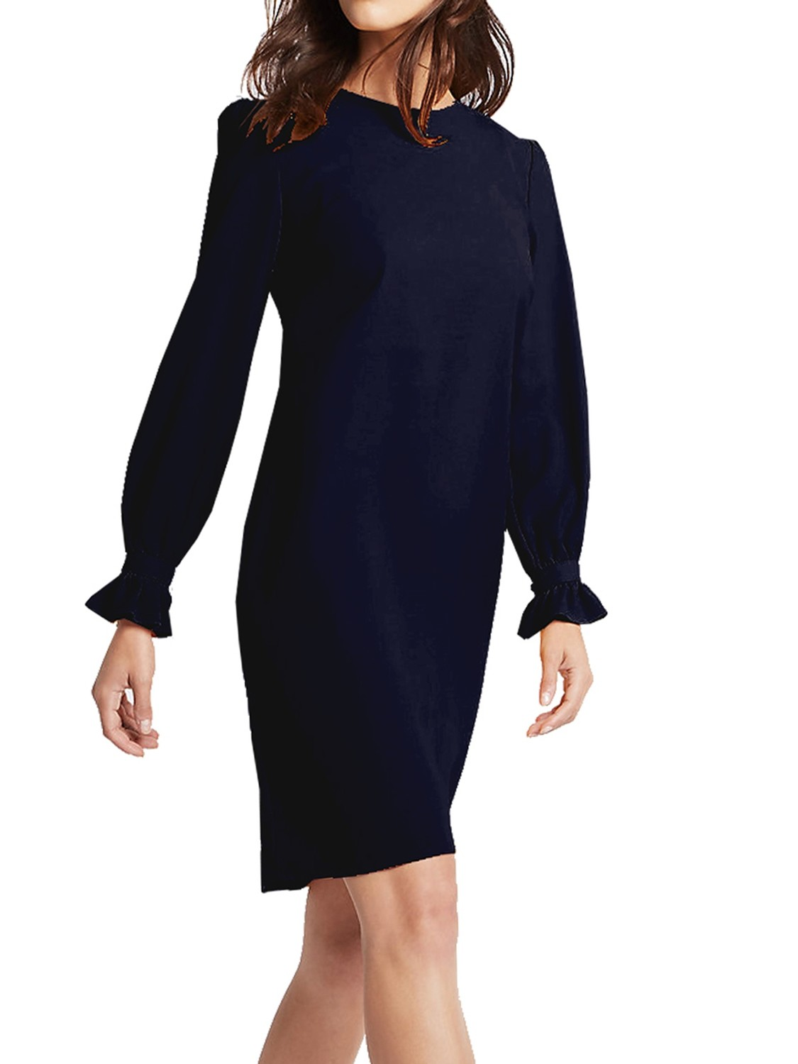 Frill Cuff Tunic Navy Dress by M&S Collection