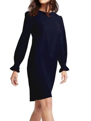 Frill Cuff Tunic Navy Dress