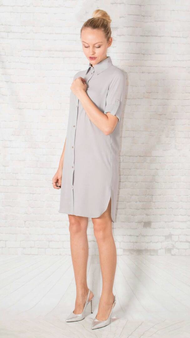 Grey London Shirt Dress