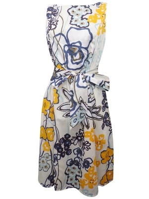 Pure Cotton Floral Print Fit & Flare Dress