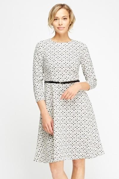 Mono Swing Belted Dress