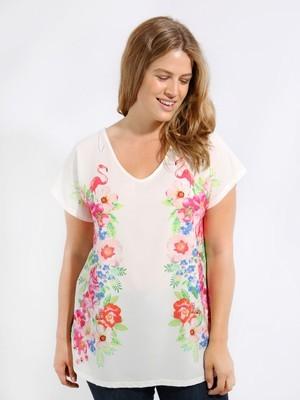 Flamingo print tshirt