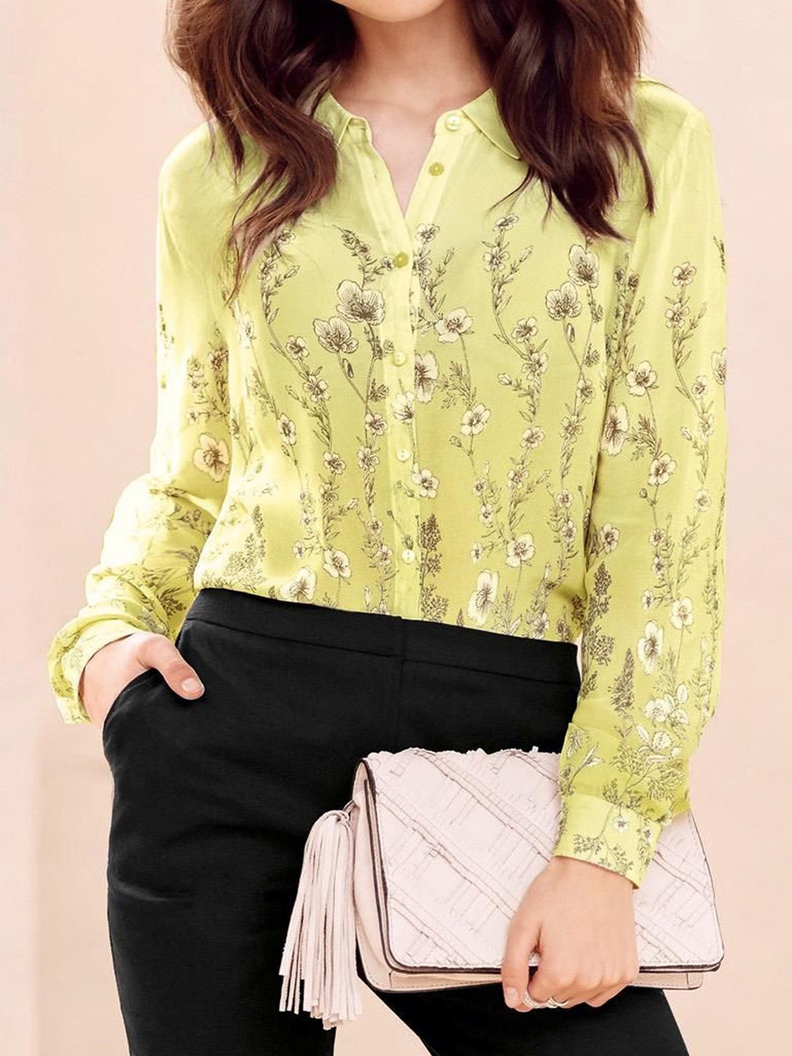 Flower Printed Long Sleeve Blouse by Next