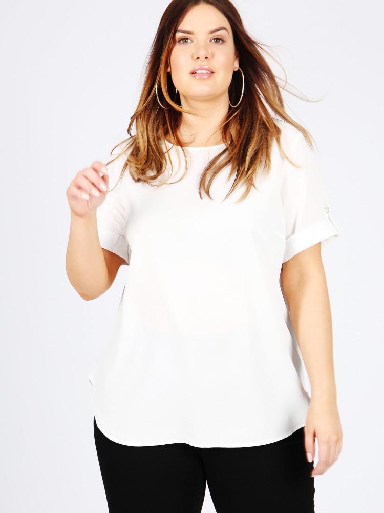 Ivory short sleeve blouse
