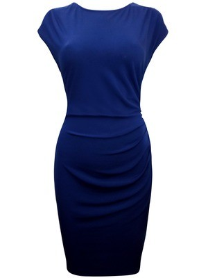Ruched Side Dress Navy