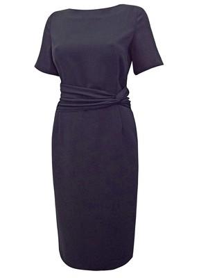 Twist Drape Panelled Shift Dress black